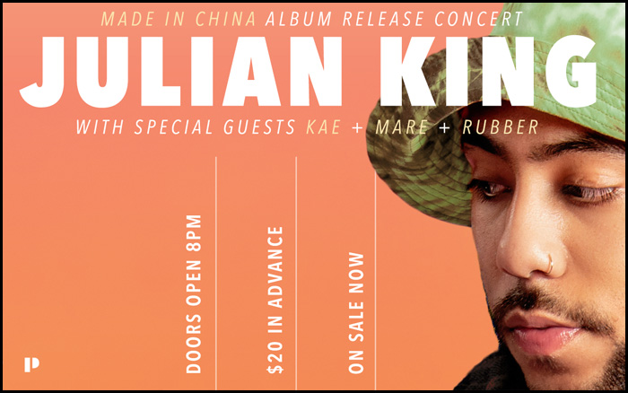 Julian King Made In China Release Concert