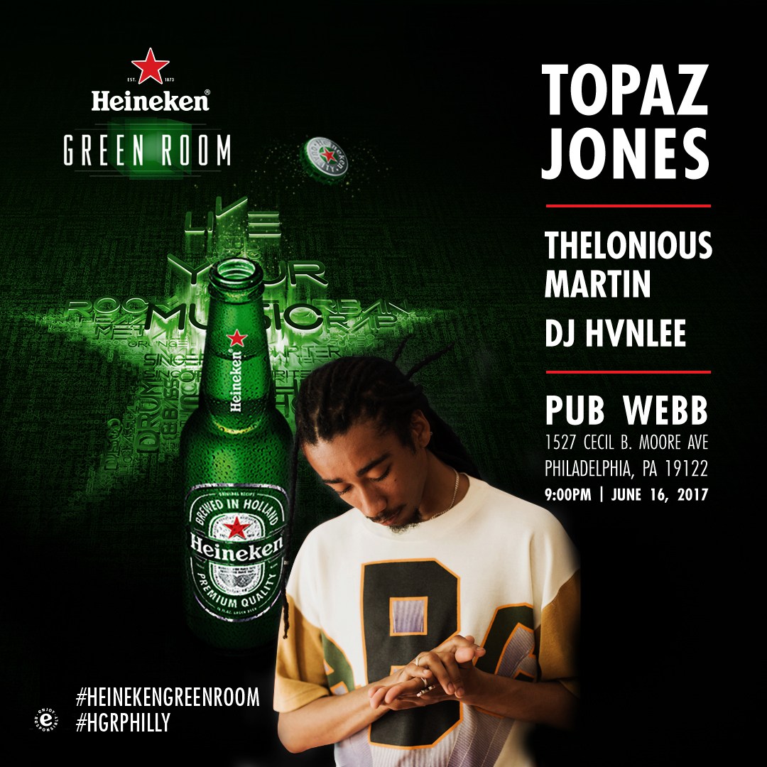 Heineken Green Room Presents Topaz Jones