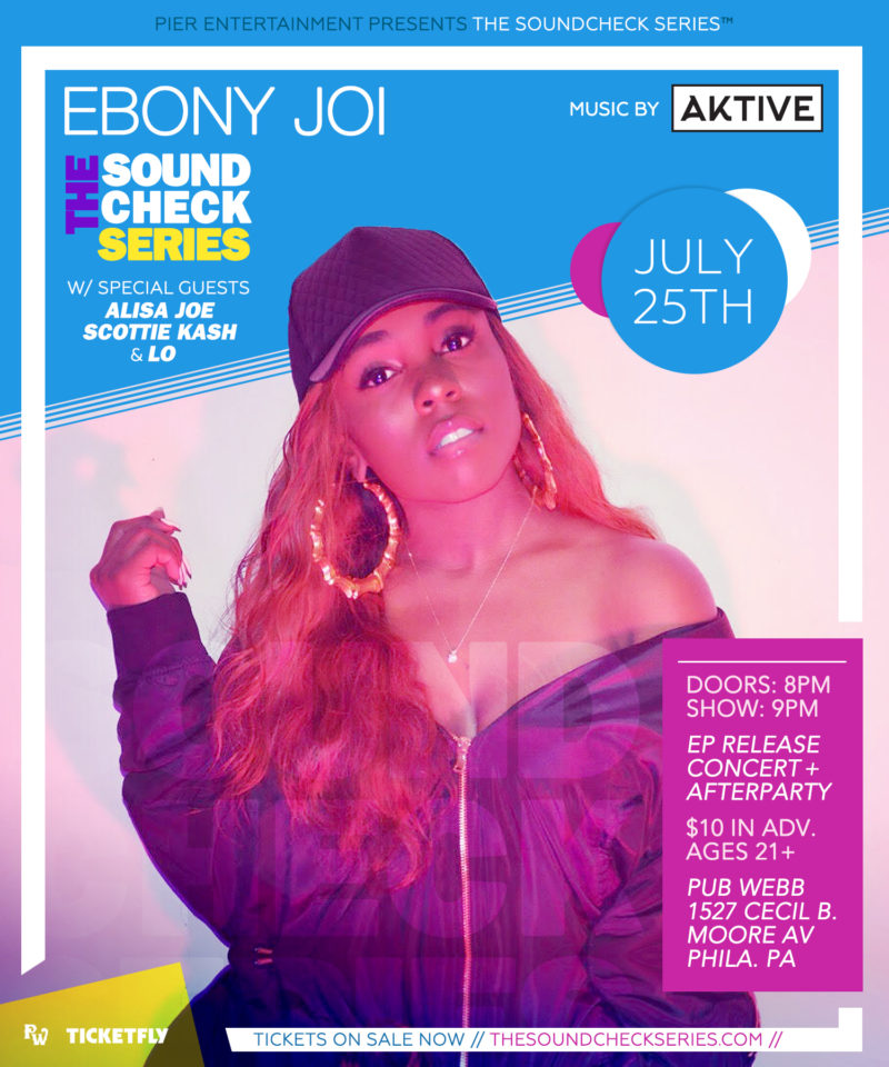 Presented by THE SOUNDCHECK SERIES: Ebony Joi