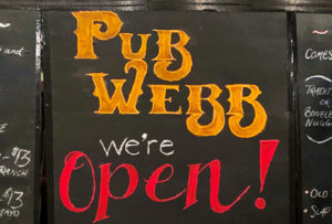 Pub Webb is Open!